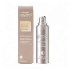 Maquillaje Natural Finish Light Beige 02, Logona