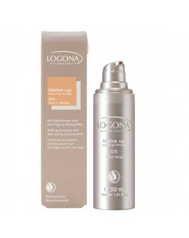 Maquillaje Natural Finish Warm Beige 05, Logona