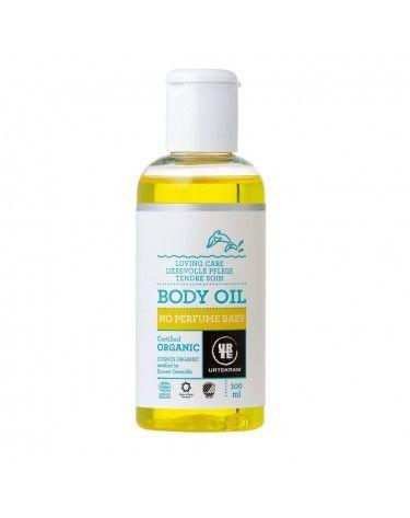 Aceite corporal Bio para bebé sin perfume 100ml, Urtekram