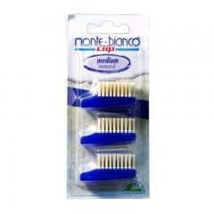 Recambio cepillo de dientes adultos natural Medium Monte-Bianco