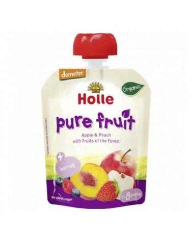Smoothie Holle Manzana, Melocotón y Frutas del Bosque 90 g
