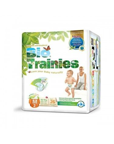 Bragapañal Bio Trainies, Talla M (12 - 15kg) 26 uds, ECO