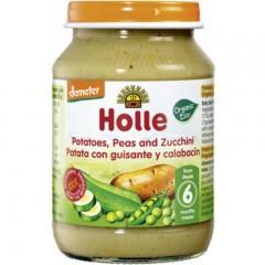 Potito de Patata, Guisantes y Calabacín Ecológico, 190 g Holle
