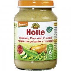 Tarrito de Patata, Guisantes y Calabacín Ecológico, 190 g Holle