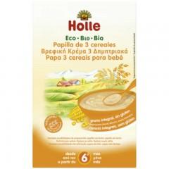 Papillas de 3 Cereales Integrales Ecológicos, 250 g Holle