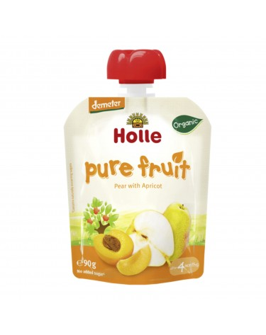 Smoothie de Pera y Albaricoque, 90g, Holle